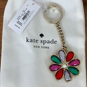 NWT Kate Spade Floral Keychain
